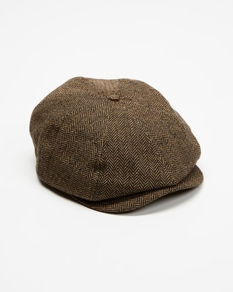 Brixton Brown Caps - Brood Snap Cap - Size S at The Iconic