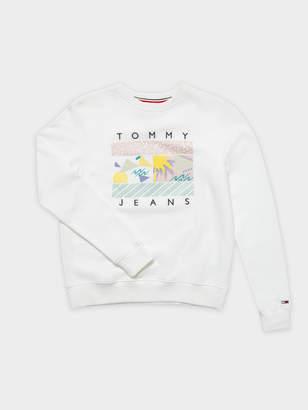 Tommy Hilfiger TJM Summer Logo Sweatshirt in White