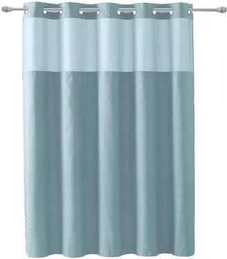 Hookless Starlight Basketweave 2-piece Fabric Shower Curtain & Liner Set