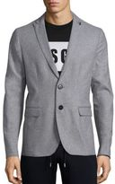MSGM Single-Breasted Wool Blend Blazer