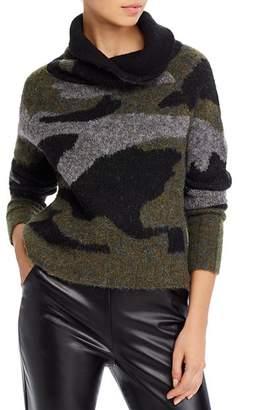 Aqua Cowl-Neck Camo Sweater - 100% Exclusive