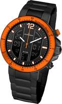 Jacques Lemans Milano 1-1726I 50mm Ion Plated Stainless Steel Case Silicone Mineral Men's Watch