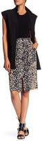 Tracy Reese Leopard Print Front Placket Skirt