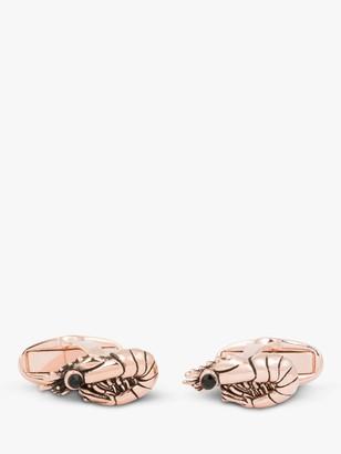 Paul Smith Copper Prawn Cufflinks, Rose Gold