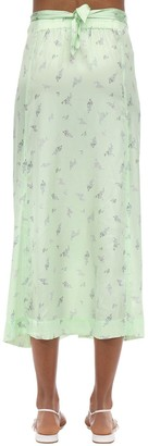 Ganni Stretch Silk Satin Midi Skirt