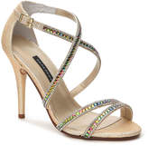 Caparros Women's Chelsea Sandal -Gold Metallic Fabric