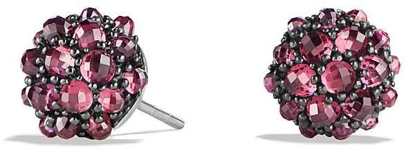 David Yurman Osetra Stud Earrings with Rhodalite Garnet
