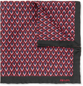 Prada Printed Silk Pocket Square
