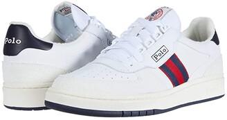 Polo Ralph Lauren Polo Court (White/Newport Navy/RL 2000 Red) Men's Shoes