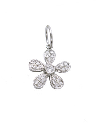 Cathy Waterman Joanne's Flower Charm - Platinum