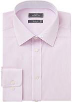 John Lewis Bengal Stripe Tailored Fit Shirt, Pink