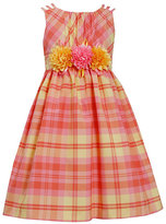 Bonnie Jean 7-16 Triple-Strap Plaid Taffeta Dress