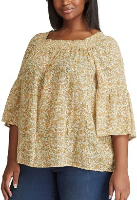 Chaps Plus Size Squareneck Top