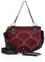 See by Chloe Collins Suede & Leather Saddle Bag