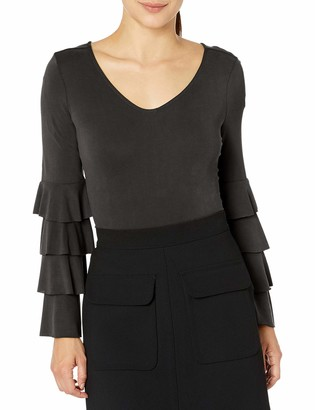 Love Scarlett Women's Petite Tier Ruffle Sleeve