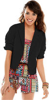 American Rag Juniors Blazer, Three-Quarter Sleeve