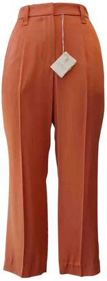 Brunello Cucinelli Orange Viscose Trousers