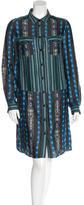 Proenza Schouler Striped Long Sleeve Shirtdress