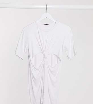 Another Reason mini t-shirt dress with knot front