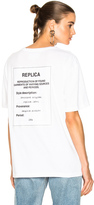 Maison Margiela Jersey Tag Tee in White.