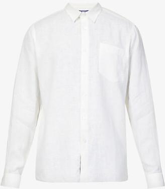 Vilebrequin Caroubis regular-fit linen shirt, Mens, Size: S, White