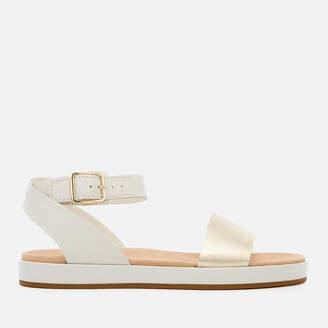 Clarks Women's Botanic Ivy Flat Sandals - Cream Combi