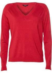 MBYM Knit V Neck Court Freeman High Risk Red - High Risk Red / XS/S