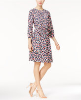 Nine West Floral-Print Blouson Dress