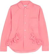 Comme des Garcons Ruffle-trimmed Cotton Shirt - Pink