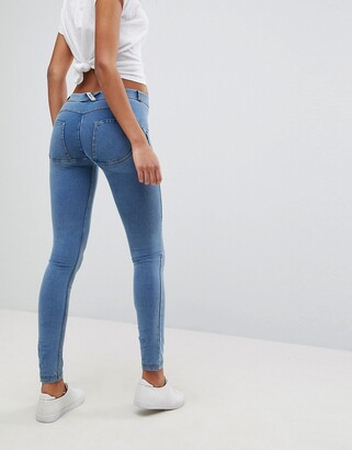 Freddy WR.UP Shaping Effect Mid Rise Push Up Skinny Jean-Blue