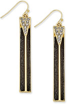 Thalia Sodi Gold-Tone Glitter Bar Drop Earrings, Only at Macy's