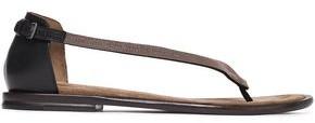 Brunello Cucinelli Bead-embellished Leather Sandals