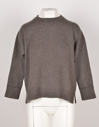 Bruno Manetti Wool & Cashmere Blend Brown Women's Sweater