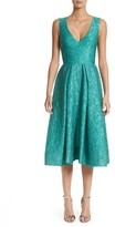 Monique Lhuillier Women's Matelasse A-Line Dress