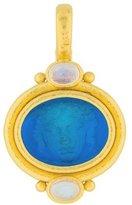 Elizabeth Locke 19K Moonstone & Venetian Glass Pendant