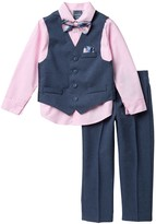 Nautica Heather Poplin Vest Suit Set (Toddler & Little Boys)