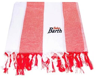 MC2 Saint Barth Red Big Striped Ultralight Cotton Towel