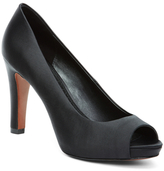 Brooks Brothers Satin Open Toe Pumps