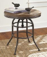 Signature Design by Ashley Grayish Brown Vennilux Round End Table