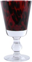 Oscar de la Renta Leopard Wine Glass