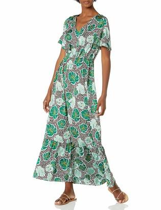 Caribbean Joe Women's V-Neck Maxi Dress