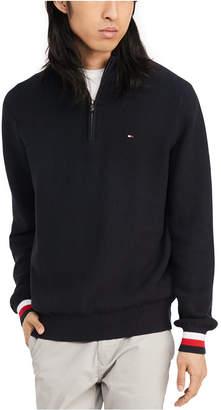 Tommy Hilfiger Men Clifton Quater Zip Logo Sweater