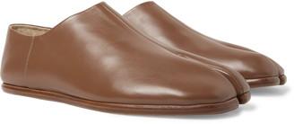 Maison Margiela Tabi Collapsible-Heel Split-Toe Leather Loafers