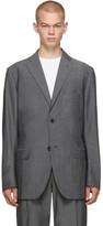 Issey Miyake Men Grey Wool Voile Blazer