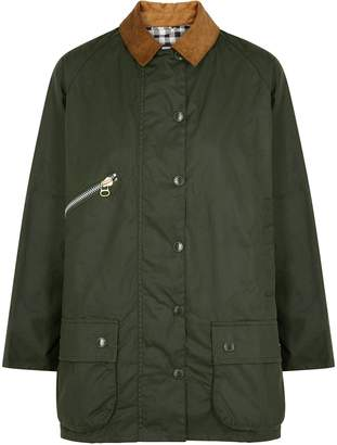 Barbour X Alexa Chung Edith Forest Green Waxed Cotton Jacket