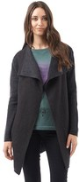 Firetrap Womens Long Length Knitted Jacket Charcoal