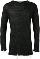 Diesel Tiger longsleeved T-shirt - men - Linen/Flax/Nylon - S