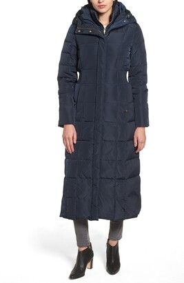 Cole Haan Water Repellent Quilted Coat with Inner Bib