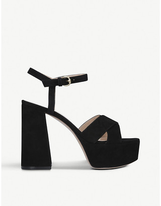 Gianvito Rossi Bebe 70 suede heeled sandals