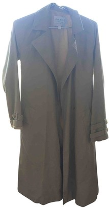Frame Beige Cotton Trench Coat for Women
